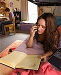 College Students in Dorm Room    Stock Photo - Premium Rights-Managed, Artist: Gail Mooney, Code: 700-00910446