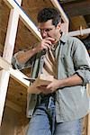 Portrait of Carpenter    Stock Photo - Premium Royalty-Free, Artist: Fabio Cardoso, Code: 600-00910770