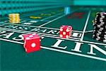 Dice on Craps Table    Stock Photo - Premium Rights-Managed, Artist: Rick Fischer, Code: 700-00911122