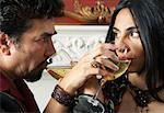 Close-up of Couple Drinking Wine