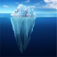 View of Iceberg Underwater    Stock Photo - Premium Rights-Managednull, Code: 700-00911638