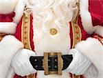 Santa holding onto belt