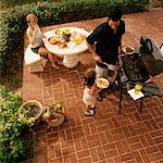 Family on Patio    Stock Photo - Premium Rights-Managed, Artist: TSUYOI, Code: 700-00916895