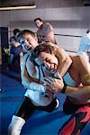 Men Wrestling    Stock Photo - Premium Rights-Managed, Artist: Hiep Vu, Code: 700-00916923