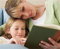 story - Mother and Daughter Reading    Stock Photo - Premium Royalty-Freenull, Code: 600-00917329