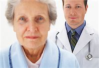 Portrait of Doctor and Woman    Stock Photo - Premium Royalty-Freenull, Code: 600-00917384