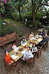 Family Having Dinner Outdoors    Stock Photo - Premium Rights-Managed, Artist: Masterfile, Code: 700-00918130