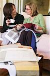 Women Looking at Fabric Swatches    Stock Photo - Premium Rights-Managed, Artist: Strauss/Curtis, Code: 700-00918458