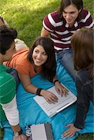 Teenagers Studying Together    Stock Photo - Premium Royalty-Freenull, Code: 600-00918558