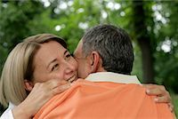 Happy mature couple embracing each other Stock Photo