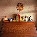 Top of Old Fashioned Desk    Stock Photo - Premium Rights-Managed, Artist: Tom Collicott, Code: 700-00933623