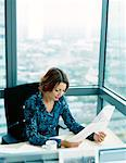 Businesswoman Working    Stock Photo - Premium Rights-Managed, Artist: Masterfile, Code: 700-00934787