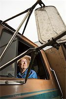 female truck driver - Woman in truck/ Stock Photo - Premium Royalty-Freenull, Code: 604-00939025