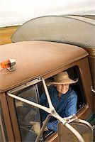female truck driver - Woman in truck/ Stock Photo - Premium Royalty-Freenull, Code: 604-00939027