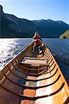 Woman rowing canoe/ Stock Photo - Premium Royalty-Free, Artist: Robert Harding Images, Code: 604-00941392