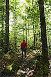 Man in forest/ Stock Photo - Premium Royalty-Free, Artist: UpperCut Images, Code: 604-00941419
