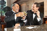 Friends Toasting Glasses/ Stock Photo - Premium Royalty-Freenull, Code: 604-00942304
