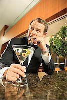 Man at Upscale Bar/ Stock Photo - Premium Royalty-Freenull, Code: 604-00942307
