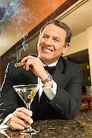 Man at Upscale Bar/ Stock Photo - Premium Royalty-Freenull, Code: 604-00942308