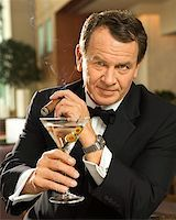 Man at Upscale Bar/ Stock Photo - Premium Royalty-Freenull, Code: 604-00942309