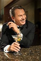 Man at Upscale Bar/ Stock Photo - Premium Royalty-Freenull, Code: 604-00942310