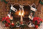Fireplace with Christmas stockings Stock Photo - Premium Royalty-Free, Artist: Sheltered Images, Code: 604-00942868