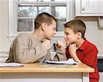 Playful brothers fighting/ Stock Photo - Premium Royalty-Free, Artist: Mark Peter Drolet, Code: 604-00943126