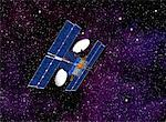 Communication Satellite In Outer Space