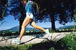 Woman Jogging    Stock Photo - Premium Rights-Managed, Artist: Bryan Reinhart, Code: 700-00948760