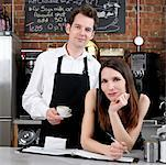 Man and Woman in Cafe    Stock Photo - Premium Rights-Managed, Artist: Edward Pond, Code: 700-00948831