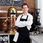 Portrait of Man in Cafe    Stock Photo - Premium Rights-Managed, Artist: Edward Pond, Code: 700-00948833