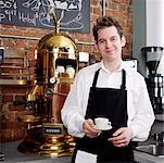 Portrait of Man in Cafe    Stock Photo - Premium Rights-Managed, Artist: Edward Pond, Code: 700-00948834