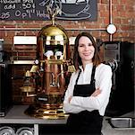 Portrait of Woman in Cafe    Stock Photo - Premium Rights-Managed, Artist: Edward Pond, Code: 700-00948841