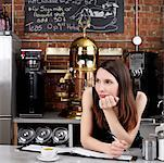 Portrait of Woman in Cafe    Stock Photo - Premium Rights-Managed, Artist: Edward Pond, Code: 700-00948842