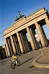 People Cycling at the Brandenburg Gate, Berlin, Germany    Stock Photo - Premium Rights-Managed, Artist: Damir Frkovic, Code: 700-00948966