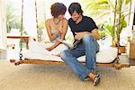 Couple on Porch Swing    Stock Photo - Premium Royalty-Free, Artist: Masterfile, Code: 600-00954274
