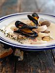 Seafood Chowder    Stock Photo - Premium Rights-Managed, Artist: James Tse, Code: 700-00954804