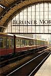 Commuter Train Entering Alexanderplatz, Berlin, Germany    Stock Photo - Premium Rights-Managed, Artist: Damir Frkovic, Code: 700-00954883