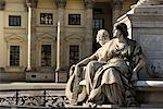 Statues in Gendarmenmarkt, Berlin, Germany