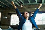 Businesswoman Cheering    Stock Photo - Premium Rights-Managed, Artist: Artiga Photo, Code: 700-00954917