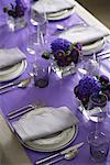 Purple Table Setting    Stock Photo - Premium Rights-Managed, Artist: Michael Alberstat, Code: 700-00955074