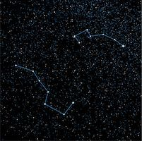 sky stars - Night Sky Displaying Big Dipper, Little Dipper and North Star    Stock Photo - Premium Rights-Managednull, Code: 700-00955645