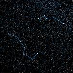 Night Sky Displaying Big Dipper, Little Dipper and North Star    Stock Photo - Premium Rights-Managed, Artist: Rick Fischer, Code: 700-00955645