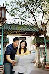 Couple Looking at Map in Street, Chinatown, San Francisco, California, USA    Stock Photo - Premium Rights-Managed, Artist: Mark Leibowitz, Code: 700-00983411