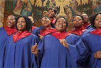 Gospel Choir    Stock Photo - Premium Royalty-Freenull, Code: 600-00984041