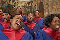 Gospel Choir    Stock Photo - Premium Royalty-Freenull, Code: 600-00984045