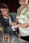 Businessman and Woman in Bar    Stock Photo - Premium Royalty-Free, Artist: Masterfile, Code: 600-00984374