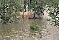 flooded homes - Flooded Indiana Farmhouse Stock Photo - Premium Royalty-Freenull, Code: 621-01003918
