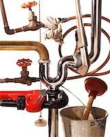 flooded homes - plumbing nightmare Stock Photo - Premium Royalty-Freenull, Code: 621-01005661