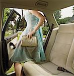 Teen Girl in Prom Dress Getting Out of Car Stock Photo - Premium Royalty-Free, Artist: Science Faction, Code: 621-01008463